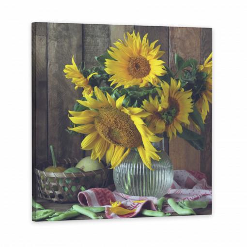 Tablou Canvas, Floarea Soarelui & Fructe
