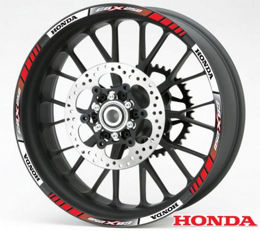 Rim Stripes - Honda CBX 250 rosu