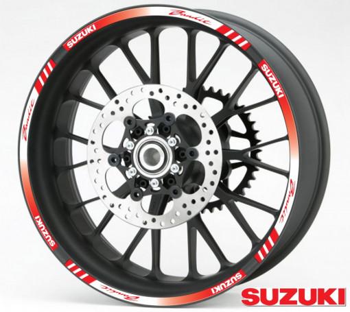 Rim Stripes - Suzuki Bandit rosu