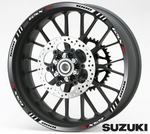 Rim Stripes - Suzuki GSX-S 1000 negru