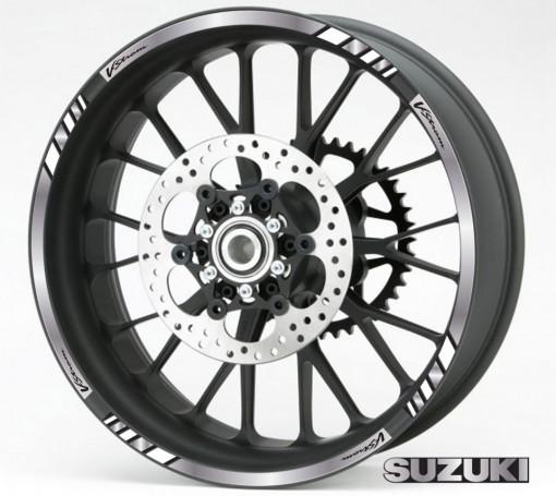 Rim Stripes - Suzuki V-Strom argintiu