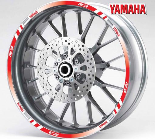 Rim Stripes - Yamaha R3 rosu