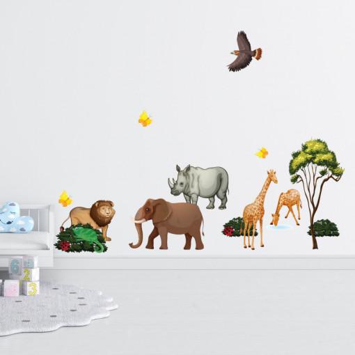 Set stickere decorative perete copii - Jungla , 60x90cm