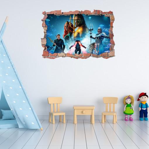 3D Sticker perete 60x90cm - Aquamen