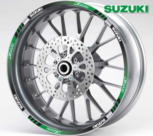 Rim Stripes - Suzuki Katana verde