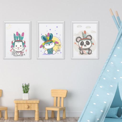 Set 3 tablouri - Animalute