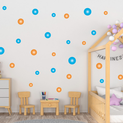 Set stickere decorative perete - Cercuri17, 60x60cm