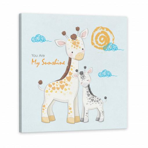 Tablou Canvas, Girafa si Puiul