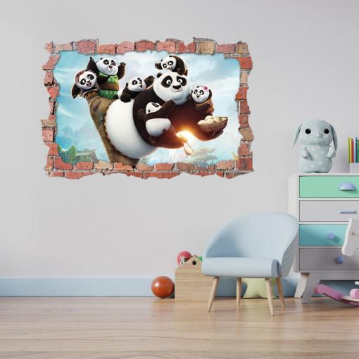 3D Sticker perete 60x90cm - Kung fu Panda 1