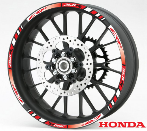 Rim Stripes - Honda CRF 250R rosu