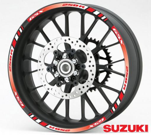 Rim Stripes - Suzuki GSX 250R rosu