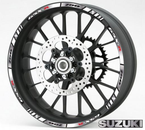 Rim Stripes - Suzuki GSX-R 750 argintiu