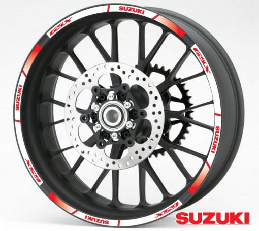 Rim Stripes - Suzuki GSX rosu