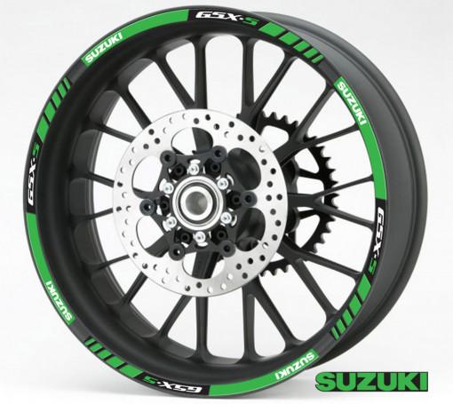 Rim Stripes - Suzuki GSX-S verde