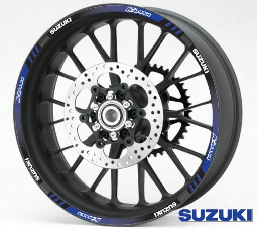 Rim Stripes - Suzuki Katana albastru