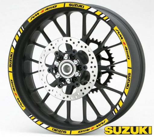 Rim Stripes - Suzuki RM-Z 450 galben