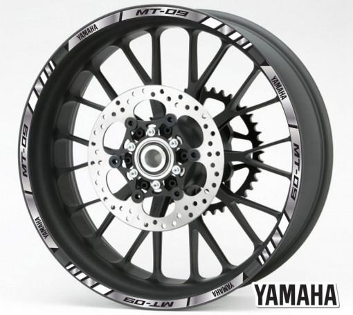 Rim Stripes - Yamaha MT-09 argintiu