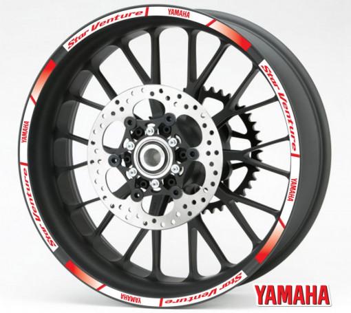 Rim Stripes - Yamaha Star Venture rosu
