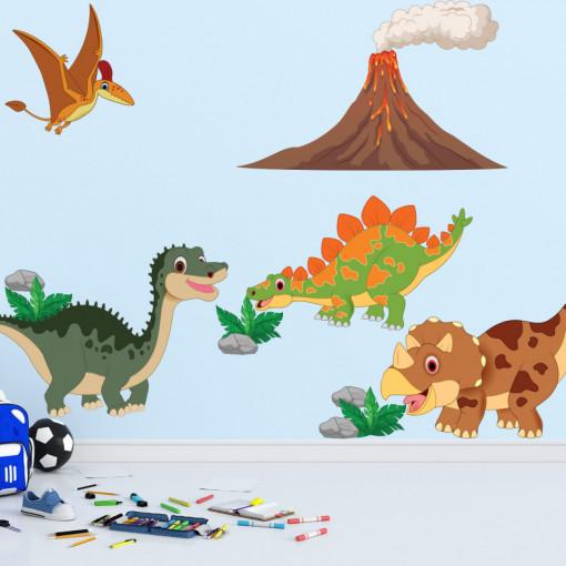Set stickere decorative perete copii - Epoca Dinozaurilor 1 , 60x90cm