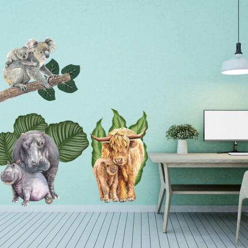 Set stickere decorative perete copii - Greenland1, 60x90cm