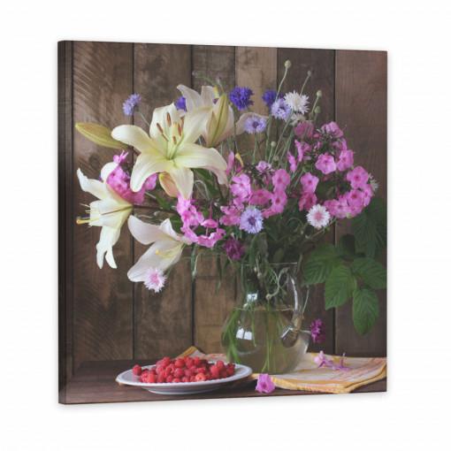 Tablou Canvas, Floricele roz