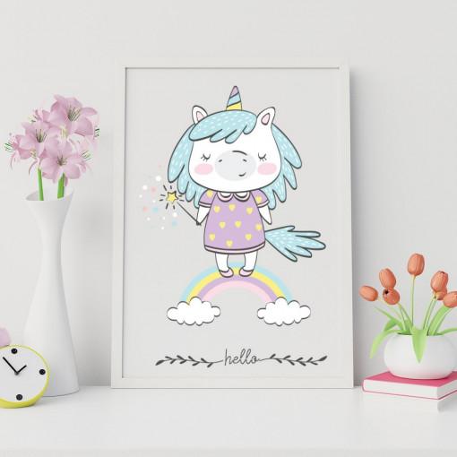 Tablou - Unicorn - Hello