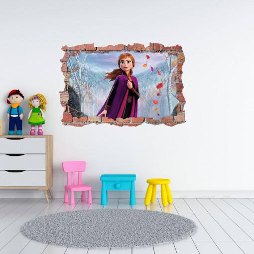 3D Sticker perete 60x90cm - Anna Frozen