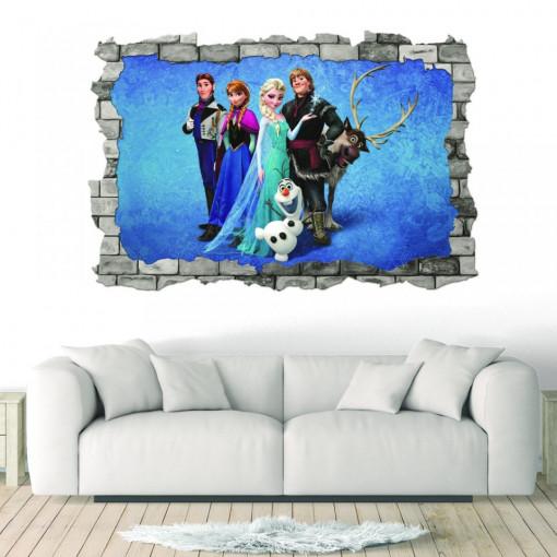 3D Sticker perete 60x90cm - Frozen