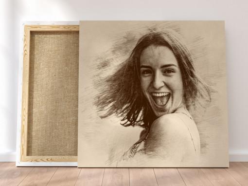 Canvas Personalizat - Efect de Schita Veche