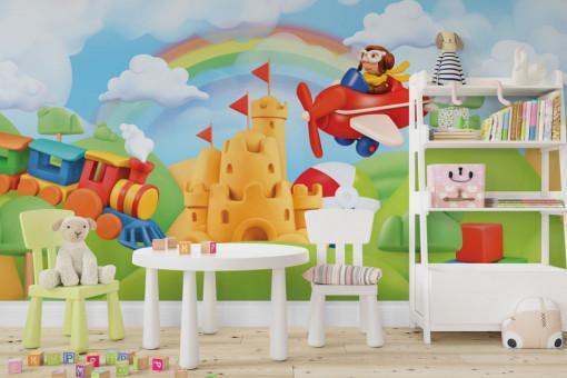Fototapet autoadeziv copii - Castelul de nisip