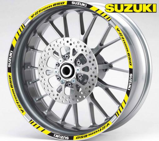 Rim Stripes - Suzuki V-Strom 650 galben
