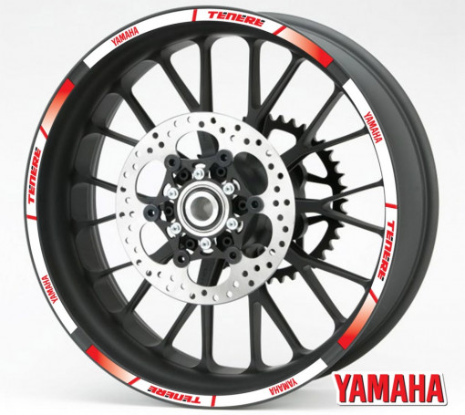 Rim Stripes - Yamaha Tenere rosu