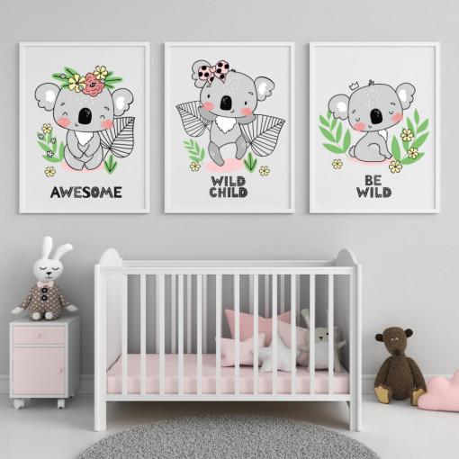 Set 3 tablouri - Koala
