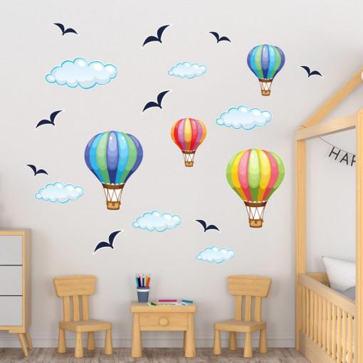 Set stickere decorative perete copii - Baloane cu aer 60x90
