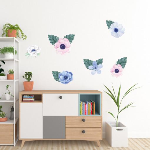 Set stickere decorative perete - Flori 2, 60x90cm