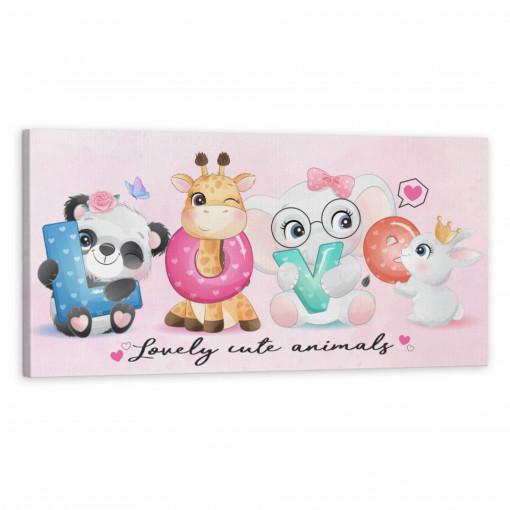 Tablou Canvas, Animalutele LOVE