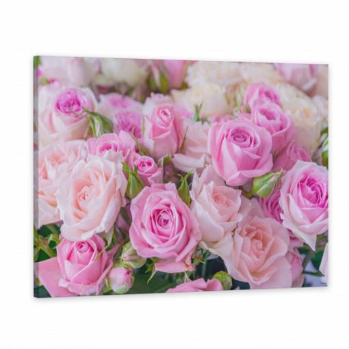Tablou Canvas, Buchet de trandafiri roz