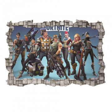3D Sticker perete 60x90cm - Fortnite 1