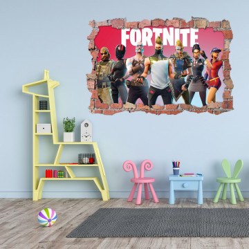 3D Sticker perete 60x90cm - Fortnite 7