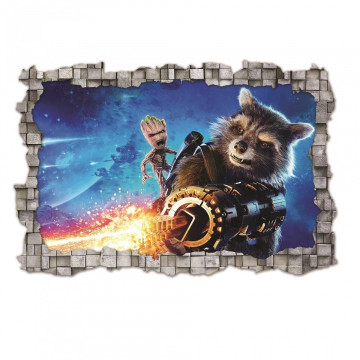 3D Sticker perete 60x90cm - Guardians of Galaxy