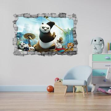 3D Sticker perete 60x90cm - Kung fu Panda 2