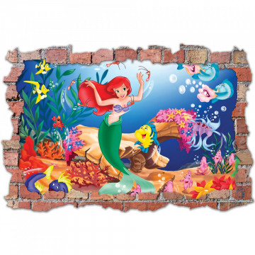 3D Sticker perete 60x90cm - Mica Sirena