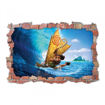 3D Sticker perete 60x90cm - Moana 2