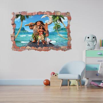 3D Sticker perete 60x90cm - Moana 3