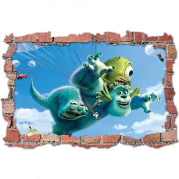 3D Sticker perete 60x90cm -Universul Monstrilor