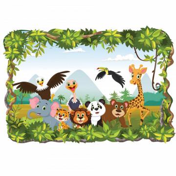 3D Sticker perete - Animale salbatice45