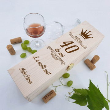 Cutie vin personalizata - Varsta, mesaj si nume
