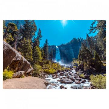 Fototapet autoadeziv - Cascada din munti