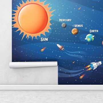 Fototapet autoadeziv copii - Solar System