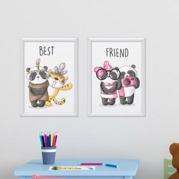 Set 2 tablouri - Animalute prietenoase